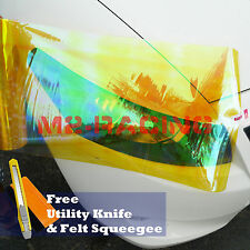 "*12""x12"" Galaxy Neo Golden Yellow Headlight Taillight Fog Light Vinyl Tint Film"