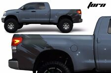 Vinyl Rear Decal Torn Wrap Kit for Toyota Tundra TRD Parts 2007-2013 Matte Black