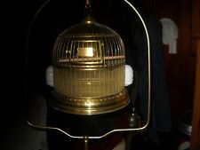 vintage antique hendryx style german brass bird cage and stand