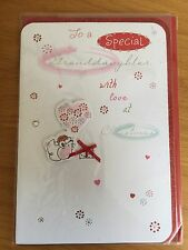Granddaughter Mouse Heart Christmas New Year Greeting LARGE Card NEW (C206)