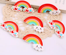 15pcs Mixed style Resin Rainbow cabochon flatback DIY Decorations