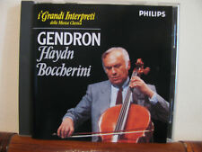 GENDRON Haydn/Boccherini conc. violoncello +CD-Grandi interpreti-Philips-DeAgos