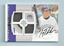 TROY TULOWITZKI 2008 ULTIMATE COLLECTION 4 COLOR TRIPLE PATCH AUTOGRAPH AUTO /10
