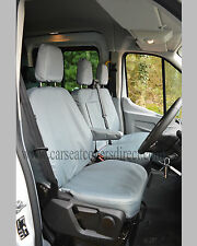FORD TRANSIT CUSTOM FULLY TAILORED EXTRA HEAVY DUTY GREY VAN SEAT COVERS GREY