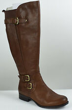Naturalizer Johanna Wideshaft Riding Boots-Brown Leather-Sz 5.5 M US (AT5 Q52