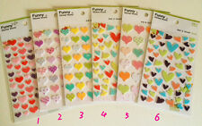 Cute pretty colorful pattern sweet Hearts deco DIY diary scrapbook Felt Stickers