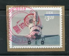 #3261 $3.20 Space Shuttle used stamp on piece