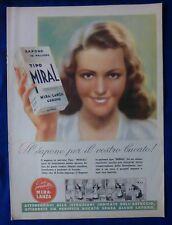 PUBBLICITA' EDITORIALE - SAPONE IN POLVERE MIRAL - GENOVA 1942