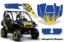 AMR Racing CanAm Commander Graphic Decal Kit UTV Accessories All Years DFLAME Y