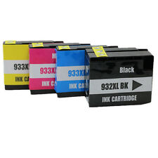4 Pack HP 932XL 933XL BK C M Y Ink Cartridges for Officejet 6100 6700 Premium