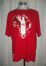 COCA COLA Size XL / X-Large Red SOUTH AFRICA 2010 FIFA WORLD CUP T Shirt UNISEX
