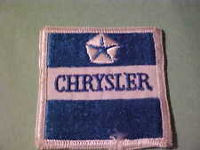 CHRYSLER  EMBROIDED IRON ON PATCH 2 1/2 IN