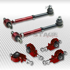 ADJUSTABLE FRONT+REAR RED CAMBER KIT 90-97 HONDA ACCORD/ACURA 96-98 TL 97-99 CL