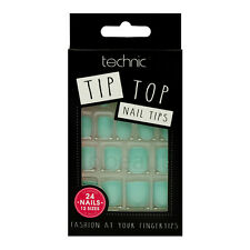 TECHNIC TIP TOP NAIL TIPS 24 FALSE FAKE NAILS CHOICE OF 5 COLOUR WHITE PINK