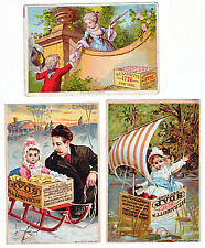 ADVERTISING 3 VINTAGE BABBITT'S SOAP COLORFUL AD CARDS