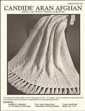 Reynolds Candide Aran Afghan KNITTING PATTERN #27 Pattern Only