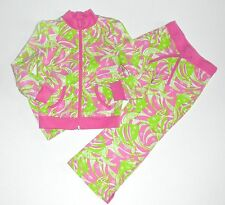 Lilly Pulitzer 4t Jacket 3t Pants Angel Fish Pink Green Girls kg1
