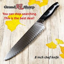 8 Inch Pro Chef Knife Japanese Damascus Stainless Steel VG10 Core Kitchen Gyuto