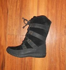 WOMENS STUNNING NEW RETRO ROPE DESIGN BLACK FLAT ANKLE BOOTS: UK SIZE 5 (38)
