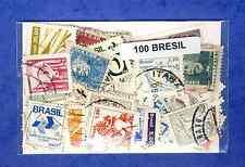 Brésil - Brazil 100 timbres différents