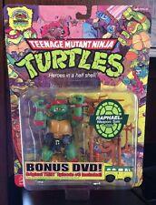 Teenage Mutant Ninja Turtles! TMNT Raphael Action Figure With Bonus DVD!