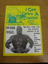 Mar-1997 Fanzine: Norwich City - I Can Drive A Tractor, Issue 13. Footy Progs (a