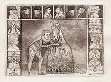 John Kay Grabado Original Antiguo Teatro. el Sr. clinch y la señora Yates, 1785