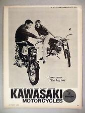 Kawasaki Motorcycle PRINT AD - 1965