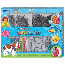 AMOS Suncatcher Glass Deco Decoration Art Craft Kit - 6 Colours 13 Suncatchers