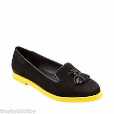 NEW STEVE MADDEN BLACK JILLTED LOAFERS SHOES SZ 9.5