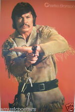 """CHARLES BRONSON """"WEARING FRINGE INDIAN COSTUME SHOOTING A GUN"""" POSTER FROM ASIA"""