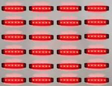 24x 24v Led Red Rear Side Marker Light Lamp Truck Trailer Lorry Waterproof