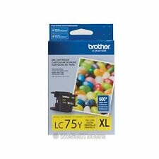 Brother LC75Y XL Yellow Ink Cartridge Genuine New Sealed