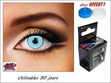 LENTILLES DE CONTACT COULEUR BLEU  glimmer blue + étui offert !