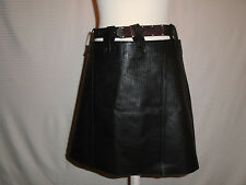 NASTY GAL WOMANS BLACK PIG SKIN LEATHER SKIRT SIZE SMALL