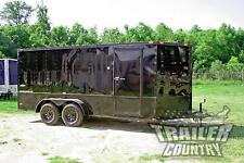 NEW 2017 Elite Series 7 x 16 V-Nose Enclosed Cargo Trailer w/ Black Out Package