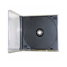 100 New Single Standard Black CD DVD Jewel Case Assembled 10.4mm [FREE SHIPPING]