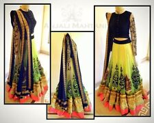 Indian Designer Bollywood Style Lemon Net Lehenga........