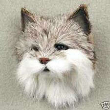 BOB CAT!  Fur Refrigerator Magnets! (Handcrafted & Hand painted.. Collectables!