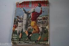 1947 College Football Illustrated-Temple Phil Slosburg Holy Cross Ray Ball