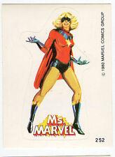 1980 Spanish Marvel Comics Superhero Terrabusi Trade Sticker - #252 Ms Marvel