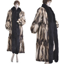 20K New! L-XL! Haute Couture Ultra Lux! Russian Fitch Tiered Pleated Swing Coat