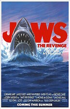 1987's JAWS: THE REVENGE original rolled advance 27x41 O/S poster