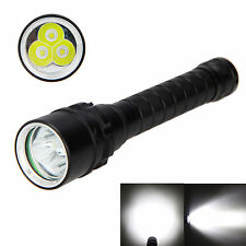 6000lm 3x XM-L T6 LED Flashlight Scuba Diving Torch Linterna Buceo 100M Dive