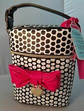 Betsey Johnson Baby Bottle Bag Insulated Tote Lunch Box Purse Bow Polka Dot NWT