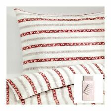 Copripiumino SINGOLO PÄRLHYACINT/Quilt Cover + 2 Federe Bianco Rosso a Righe Set Letto