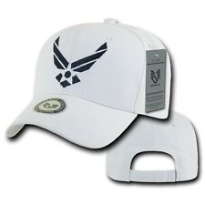 White United States US Air Force Wings USAF Military Baseball Cotton Cap Hat