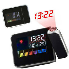 """3.7"""" Digital LCD LED Projector Alarm Clock Temperature Humidity Weather Station"""