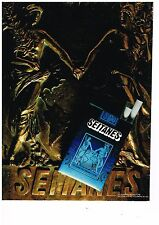PUBLICITE ADVERTISING  054  1979  SEITANES   cigarettes  brunes