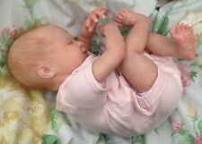 "Reborn baby realistic small newborn Lia 18""5lb artist painted JosyNN sculpt May"